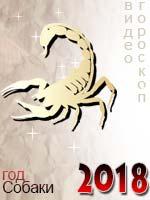 видео гороскоп на 2018 год Скорпион